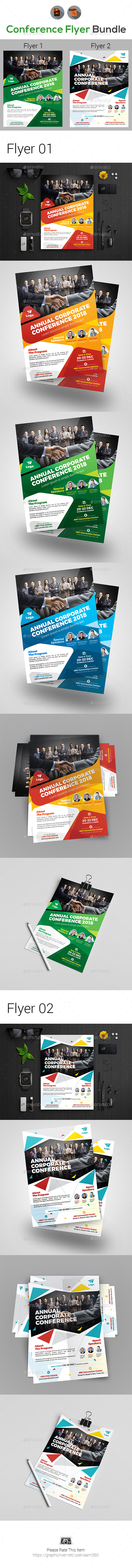 Annual Event Summit Flyer Bundle - Corporate Flyers