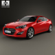 Hyundai Genesis coupe with HQ interior 2014