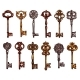 Vector Isolated Icons Sketch of Vintage Keys