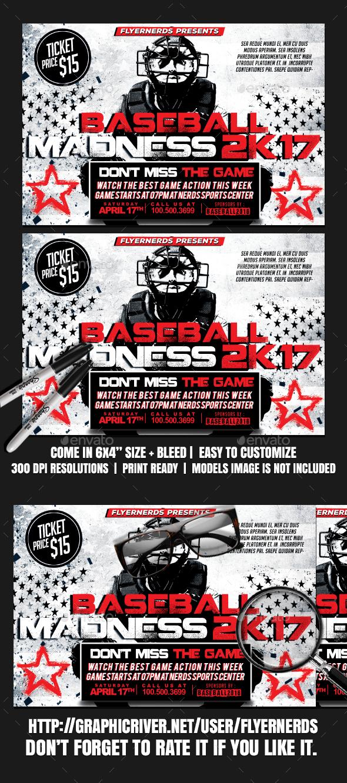 GraphicRiver Baseball Madness 2K17 Sports Flyer 20431796