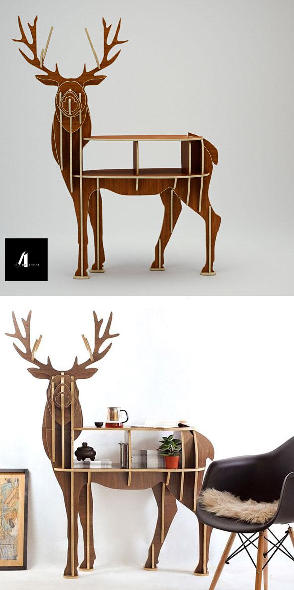 3D deer shelf - 3DOcean Item for Sale
