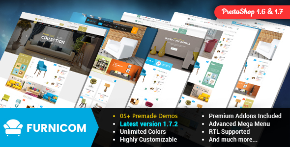 Furnicom - Responsive PrestaShop 1.6 and 1.7 Furniture Theme