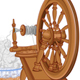 Old Spinning Wheel and Chair