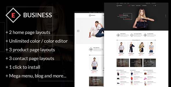 ThemeForest E-Business All in one package Prestashop theme 20431876