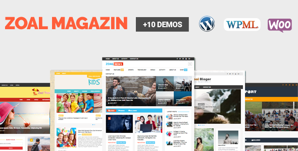 ThemeForest Zoal Mag WordPress News Magazine And Blog Theme 20299278