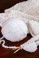 White wool yarn
