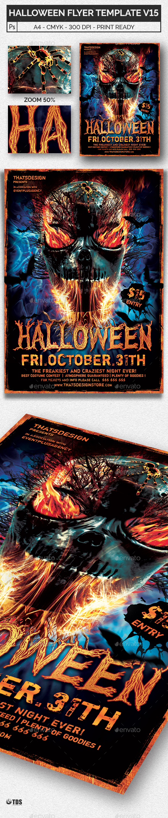 Halloween Flyer Template V15 - Holidays Events