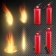 Fire Extinguisher Vector. Sign 3D Realistic Fire