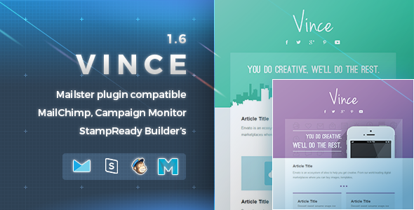 Vince | Responsive Email Template - Newsletters Email Templates