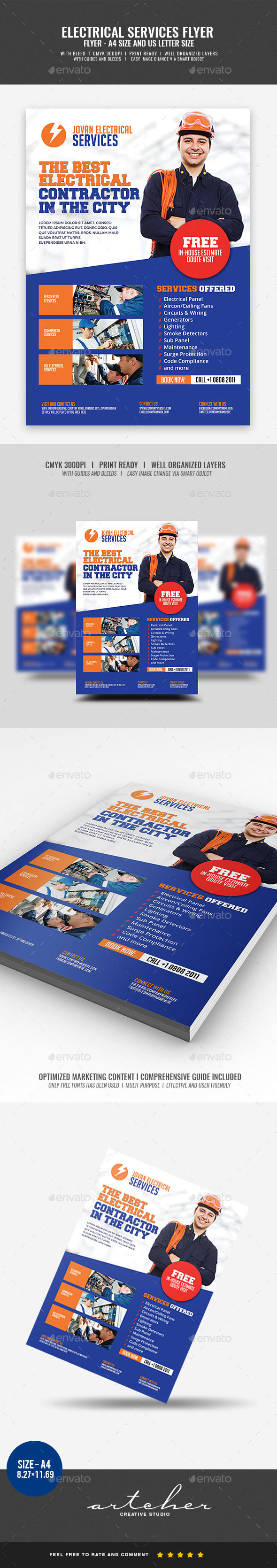 Electrical Services Flyer - Corporate Flyers