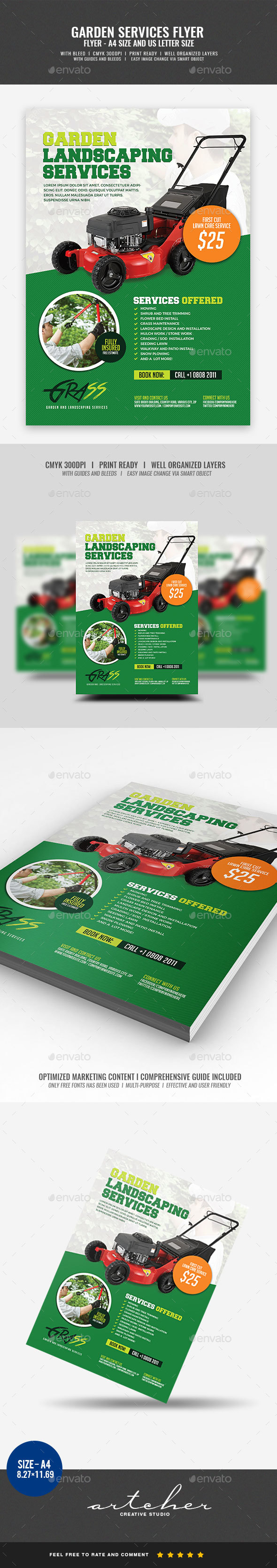 GraphicRiver Garden and Landscaping Flyer 20416574