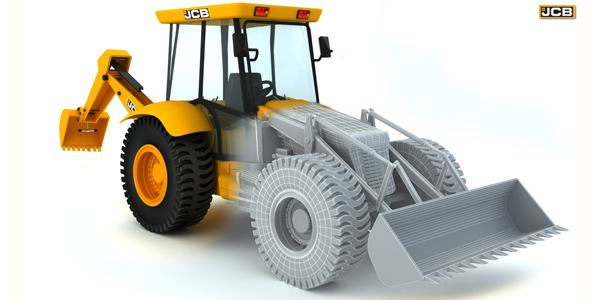 JCB ( High Poly Model ) - 3DOcean Item for Sale
