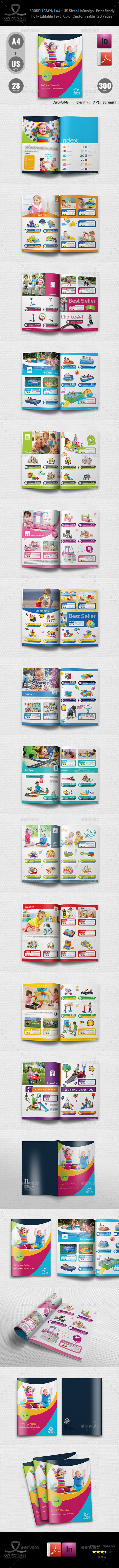 Toys Products Catalog Brochure Template - 28 Pages - Catalogs Brochures