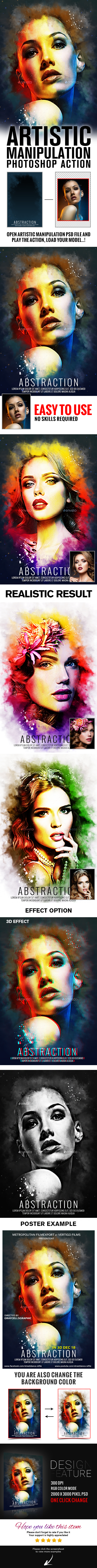 Artistic Manipulation Actions V1 - Photo Effects Actions