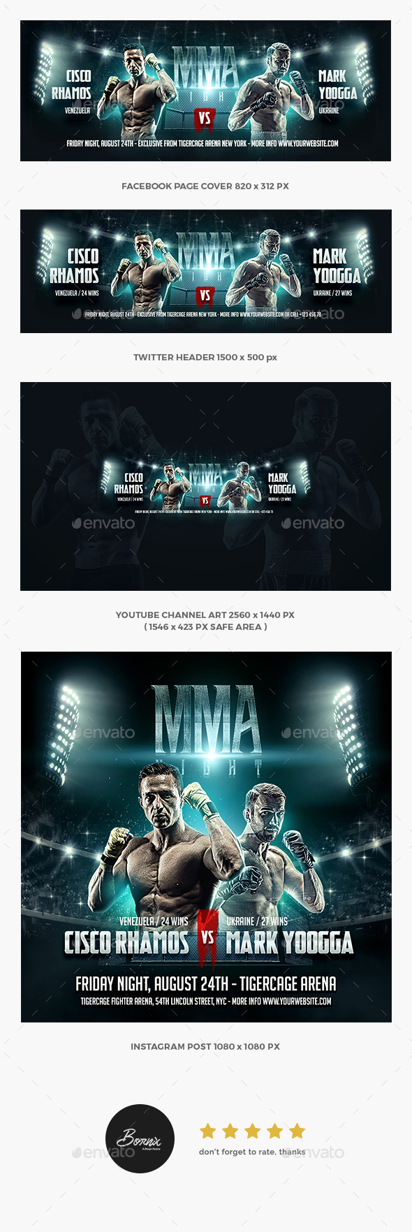MMA Boxing Social Media Template