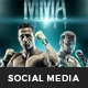 MMA Boxing Social Media Template - GraphicRiver Item for Sale