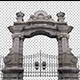 Large Stone Gates And Decorative Bars - VideoHive Item for Sale