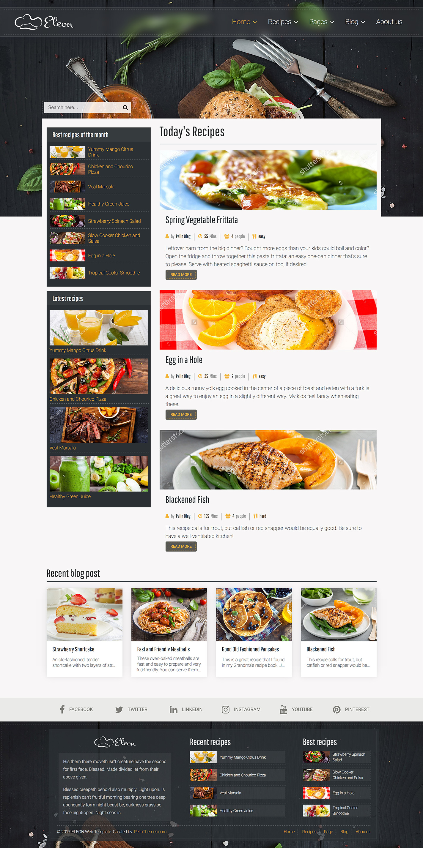 Eleon food recipes html template by devbirds themeforest recipes html template food retail 01previewg 02indexg 03index2g forumfinder Choice Image