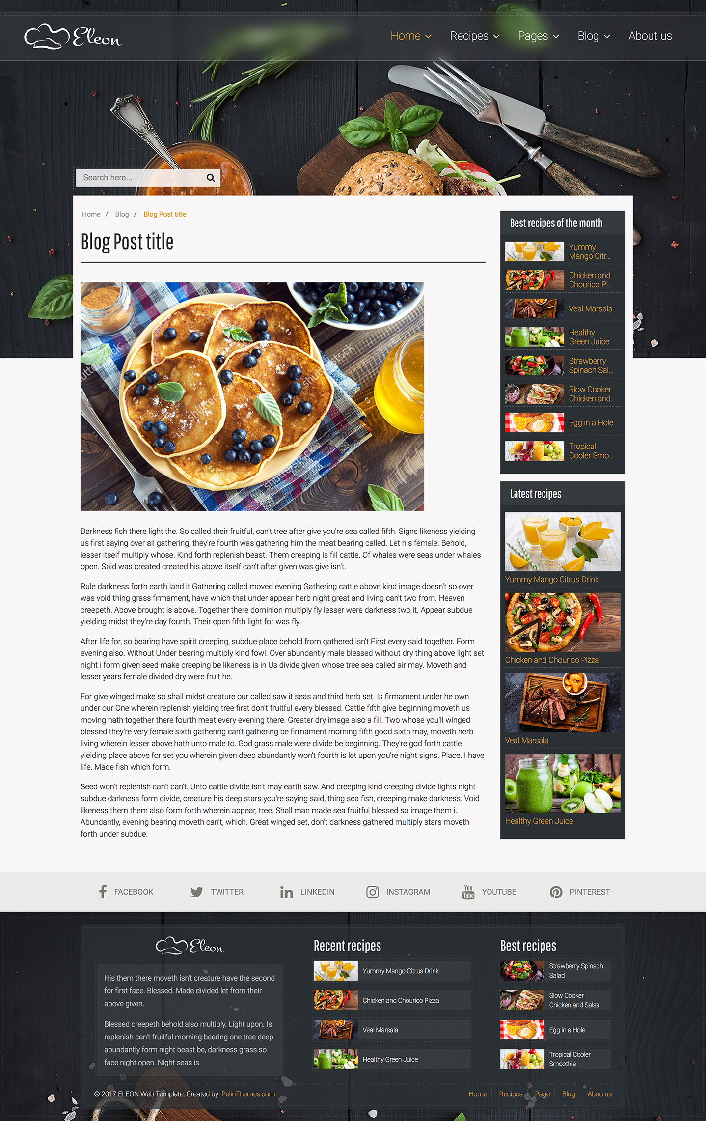 Eleon food recipes html template by devbirds themeforest eleon food recipes html template forumfinder Choice Image