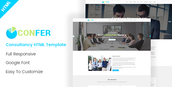 Confer - Consultancy, Finance & Business HTML Template