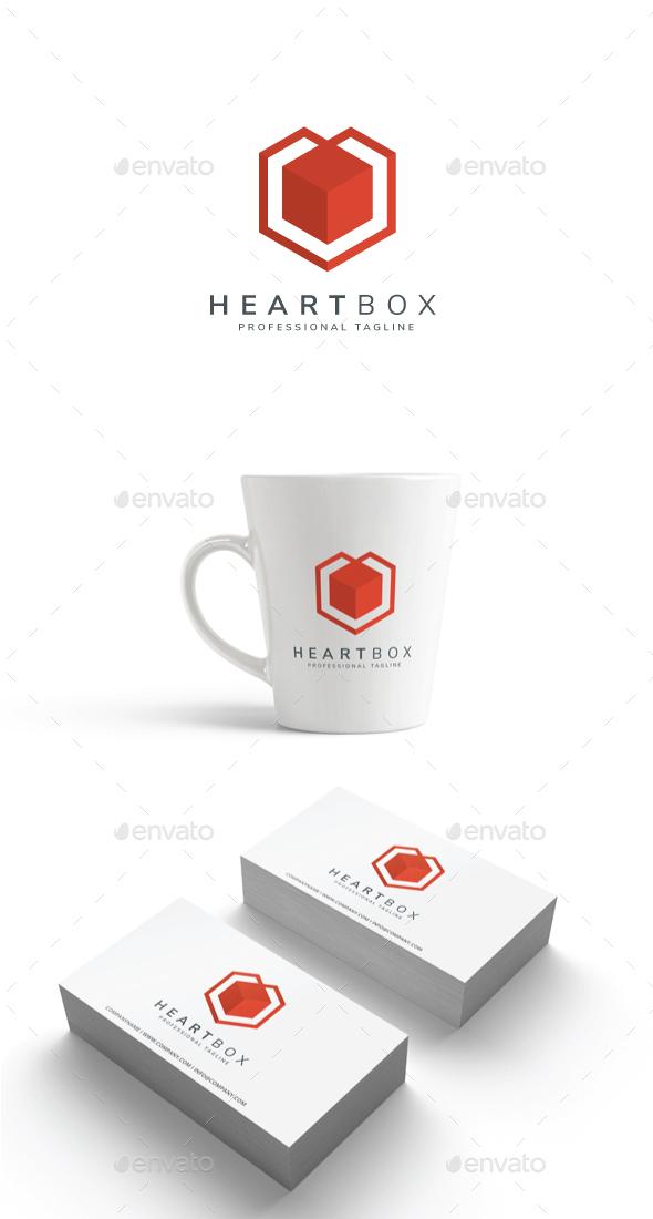 Heart Box Logo - Abstract Logo Templates