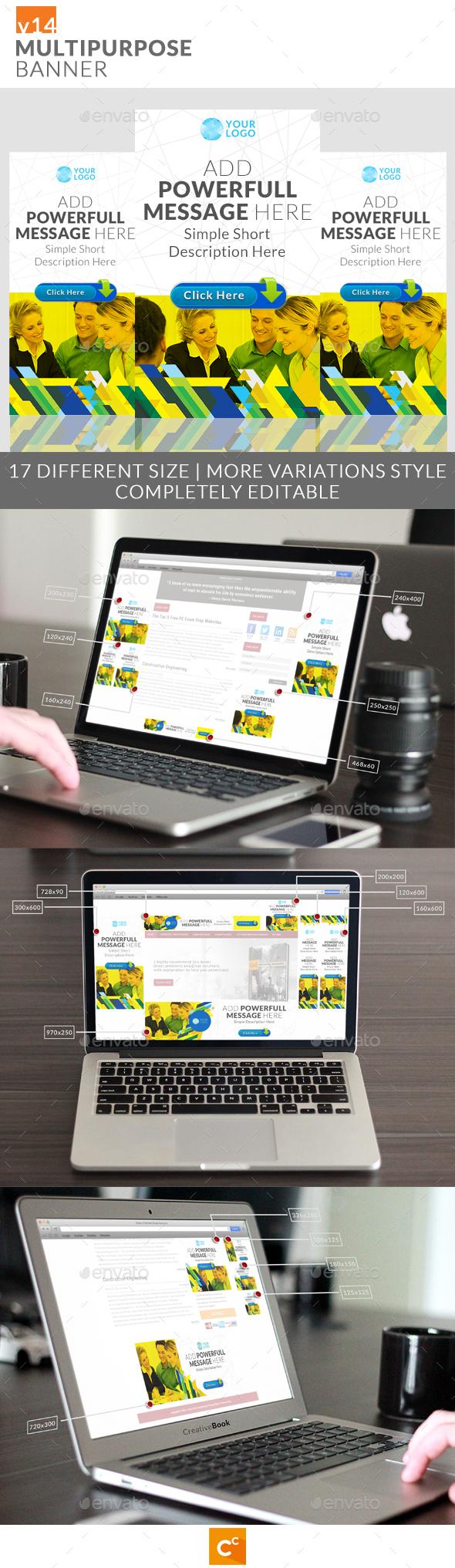 Multipurpose Banner Ads v14 - Banners & Ads Web Elements