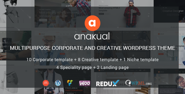 Anakual - Multipurpose Corporate and Creative WordPress Theme