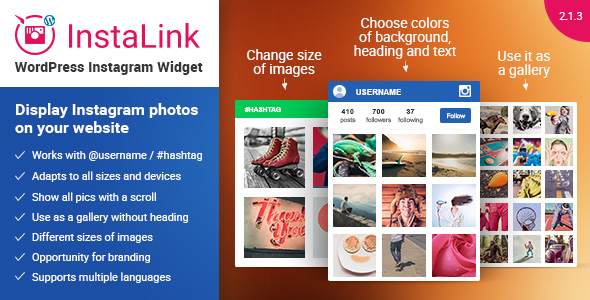 Instagram Widget - WordPress Plugin for Instagram - CodeCanyon Item for Sale