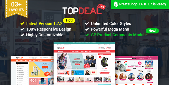 SP TopDeal - Multipurpose Responsive PrestaShop 1.7 and 1.6 Theme