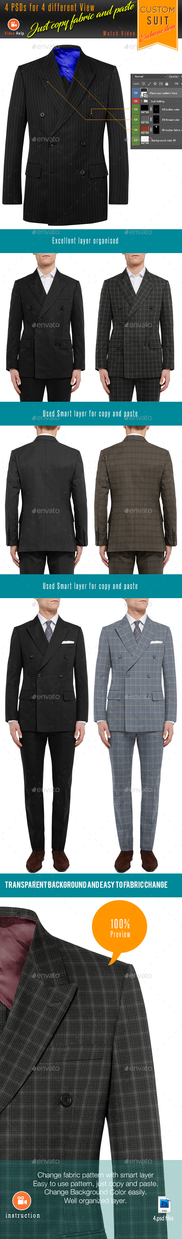 Suit Mockup - Apparel Product Mock-Ups