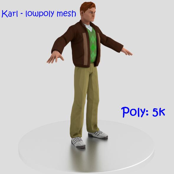 Karl - lowpoly man