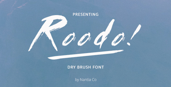 Roodo Dry Brush Font - Grunge Decorative