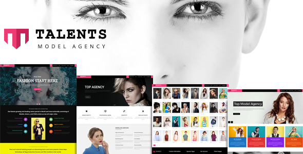 Talents - WordPress Theme for Talent Agency - Fashion Retail