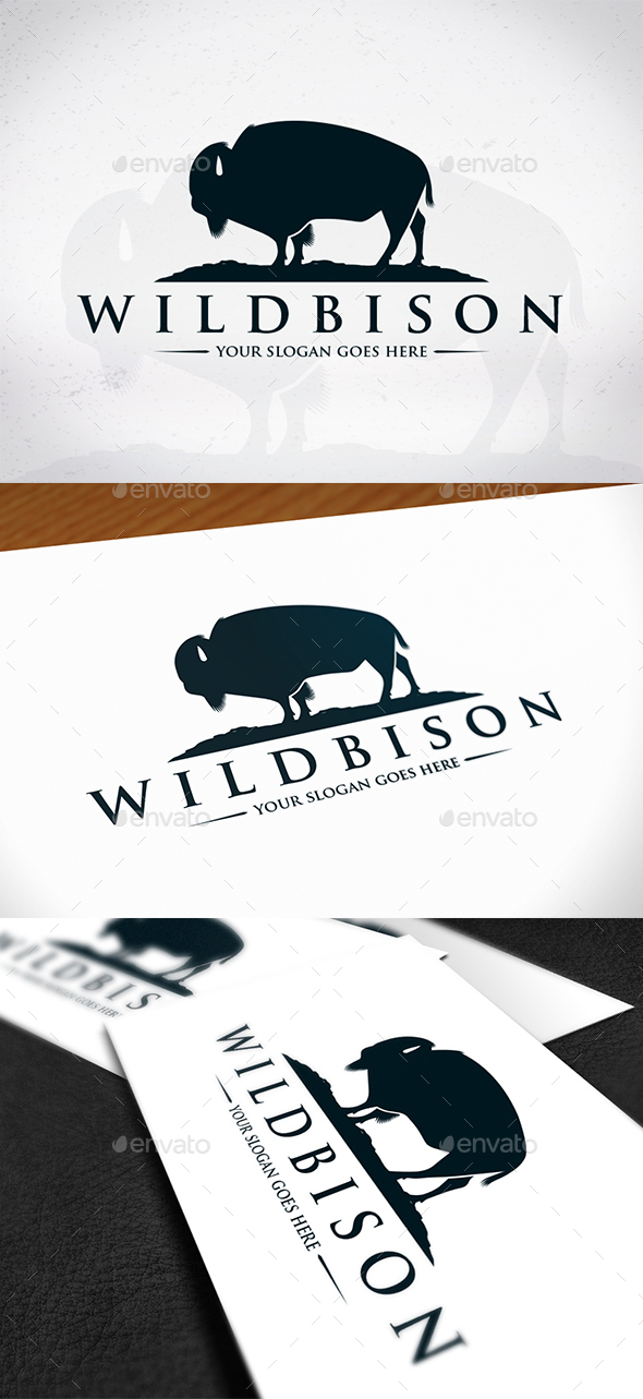 GraphicRiver Wild Bison Logo Template 20433457