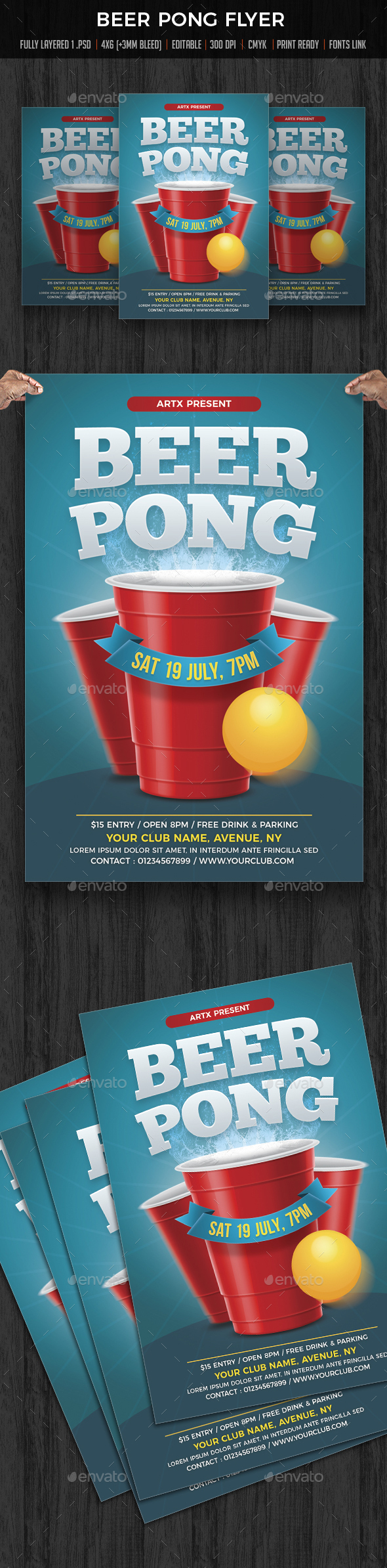 Beer Pong / Beer Party Flyer - Clubs & Parties Events