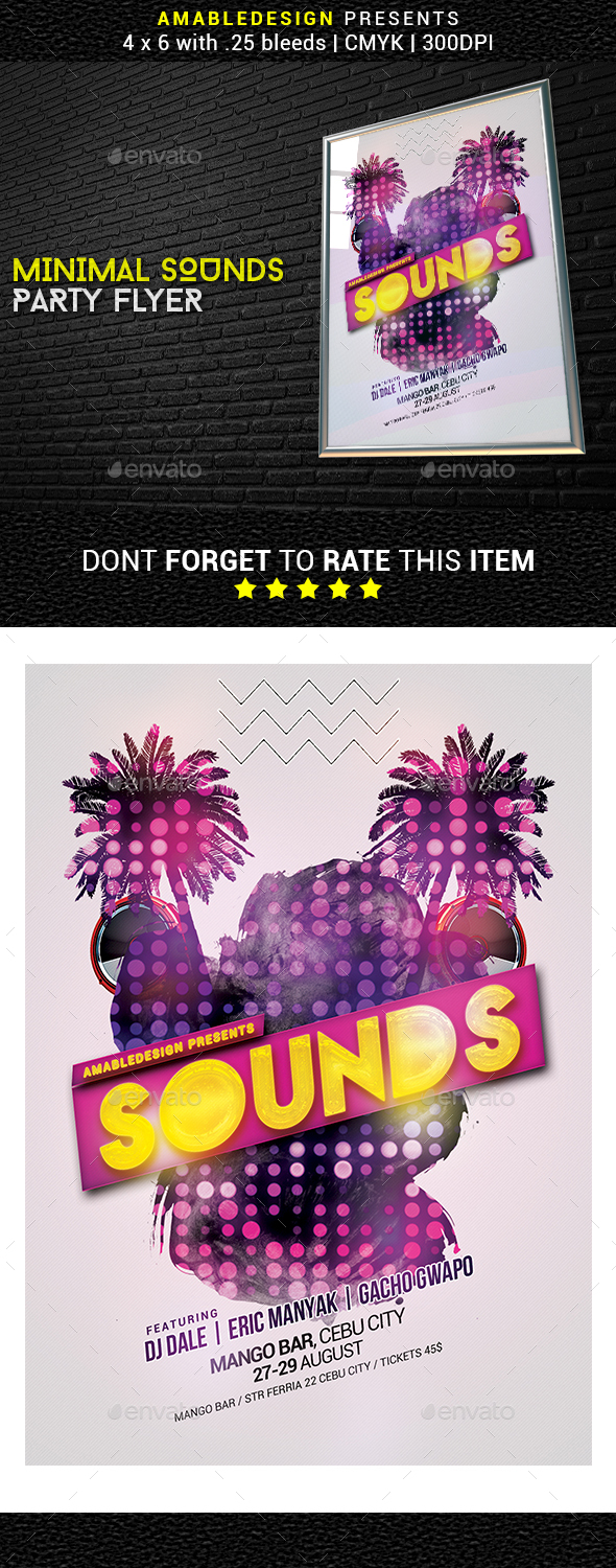 Minimal Sounds Flyer - Clubs & Parties Events