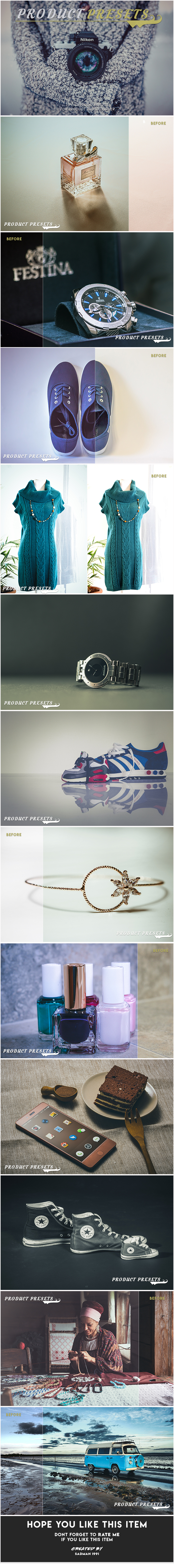 Product Presets Pack - Lightroom Presets Add-ons