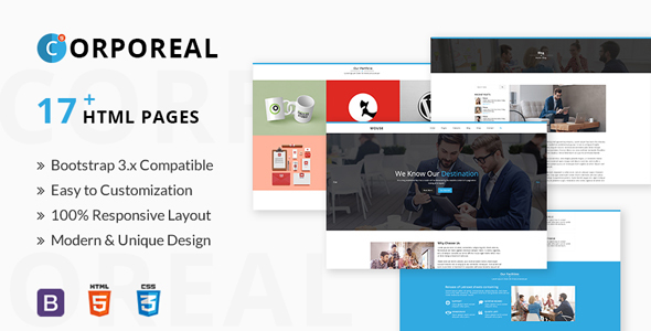 CORPOREAL - Multipurpose Business & Corporate Portfolio HTML5 Template