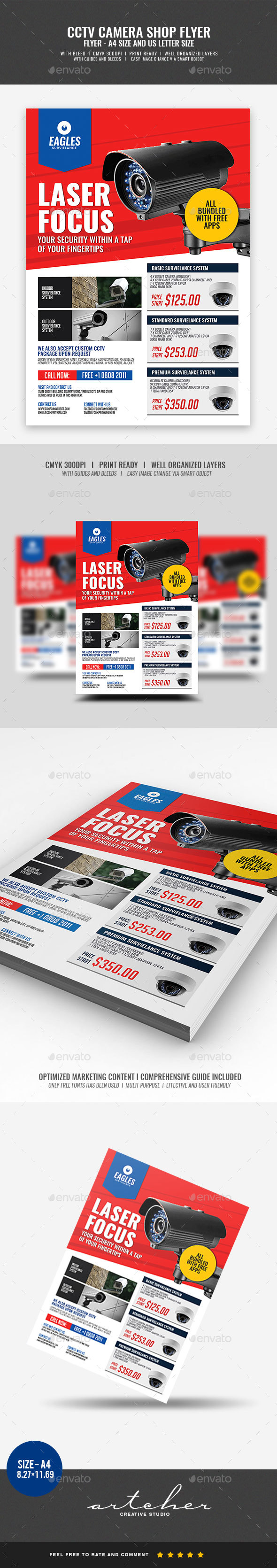 CCTV Security Camera - Commerce Flyers