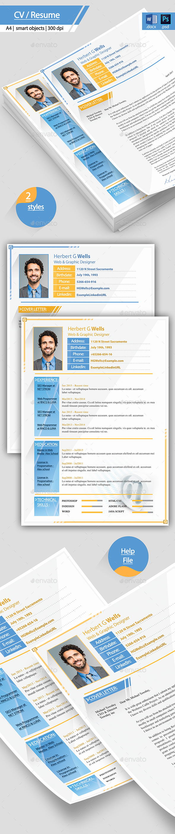 Modern Resume and Coverletter - Resumes Stationery