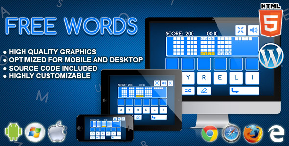 Free Words - HTML5 Word Game - CodeCanyon Item for Sale
