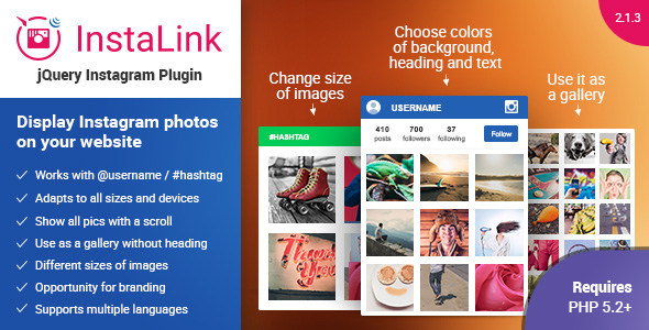 Instagram Plugin - jQuery Widget for Instagram - CodeCanyon Item for Sale