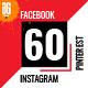 Facebook, Instagram and Pinterest Social Media Pack - GraphicRiver Item for Sale
