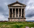 Ancient Garni pagan Temple in Armenia