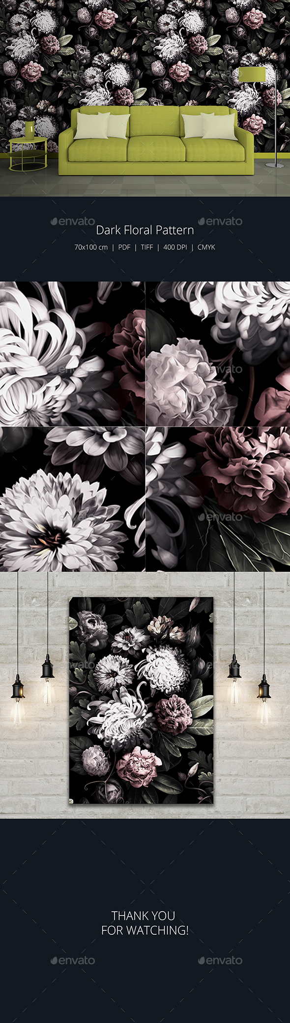 GraphicRiver Dark Floral Pattern 20433964