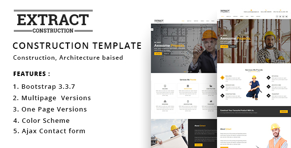 Extract - Construction and Business Template