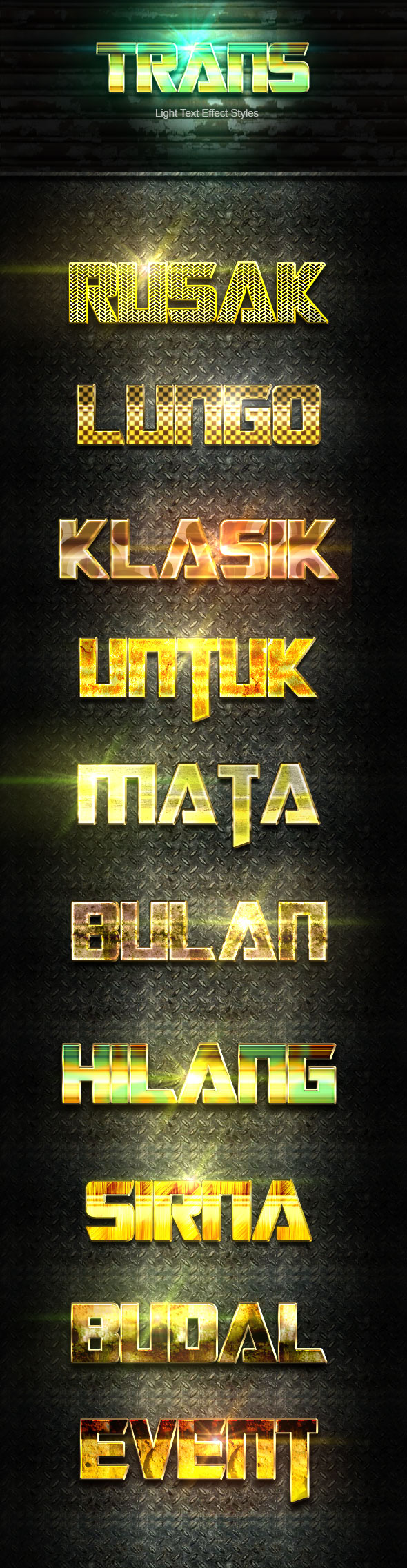 Trans Gold Text Effect V03