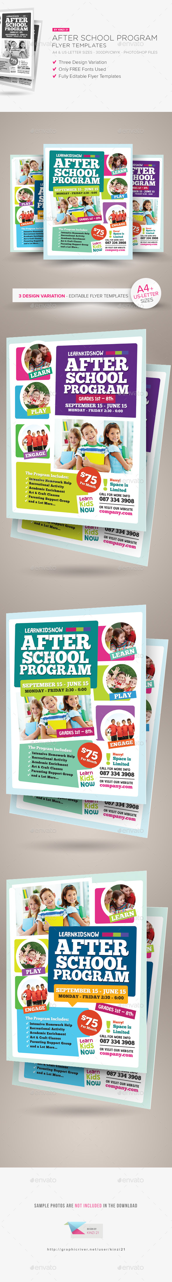 After School Program Flyer Templates - Corporate Flyers
