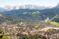 Aerial view over Garmisch in the alps of Bavaria - PhotoDune Item for Sale
