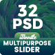 Multipurpose Slider - 32 PSD - GraphicRiver Item for Sale